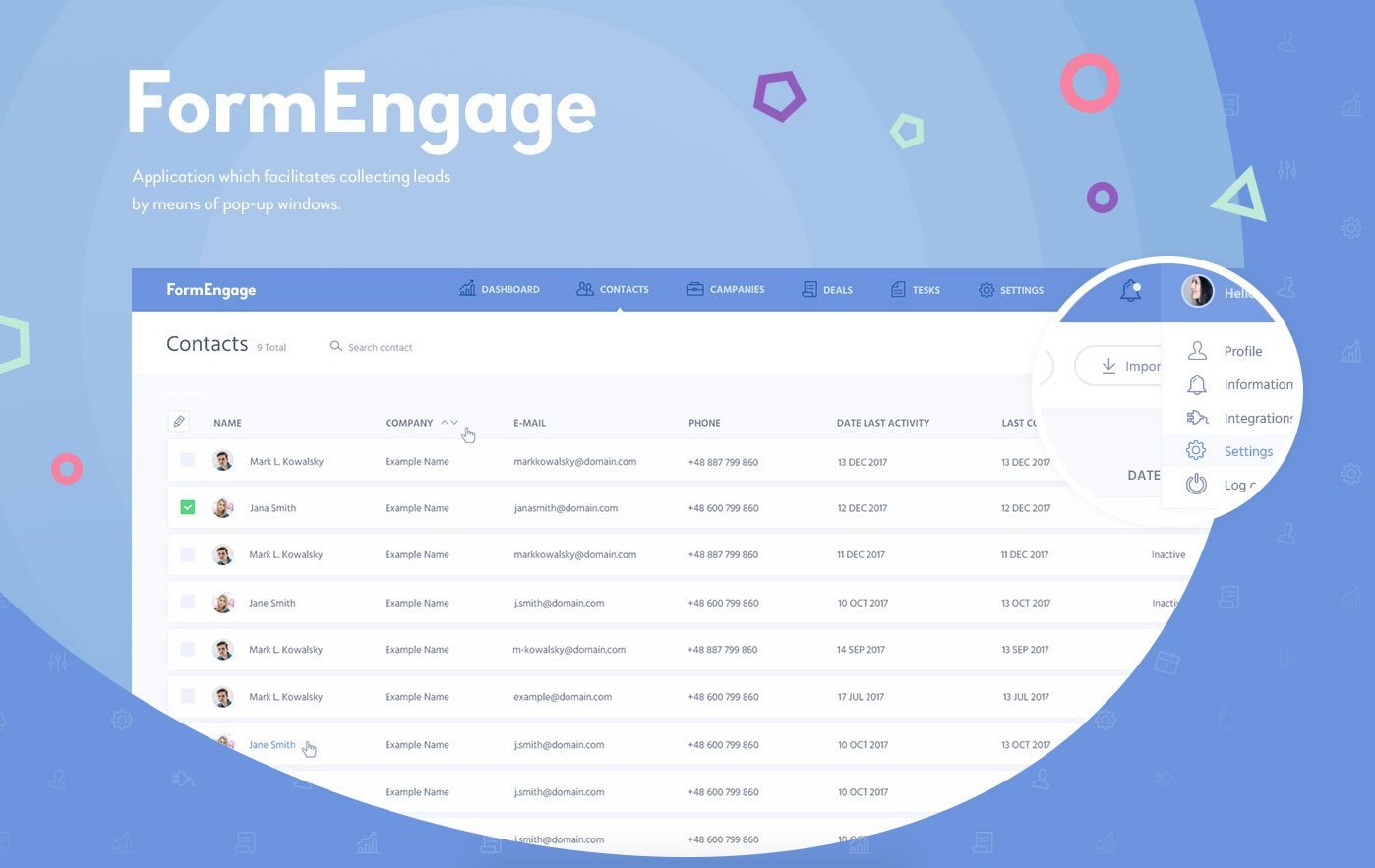 Lead generation system FormEngage